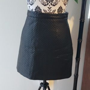 Topshop quilted faux leather skirt
